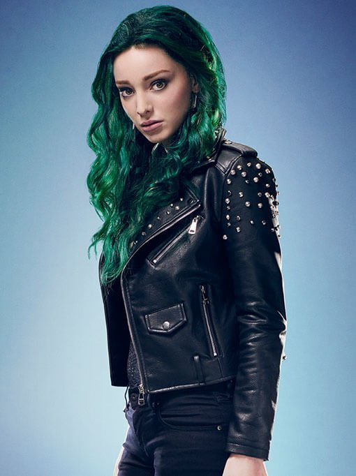 Lorna Dane Tv Series The Gifted Polaris Studded Black Biker Jacket