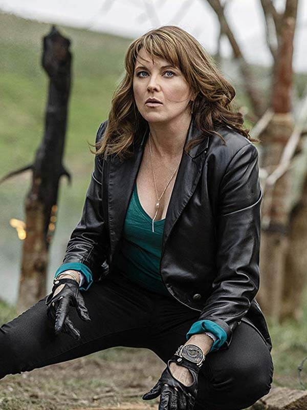 Lucy Lawless Ash vs Evil Dead Tv Series Black Leather Jacket