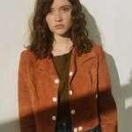 Manon Demissy Skam France Brown Suede Leather Jacket