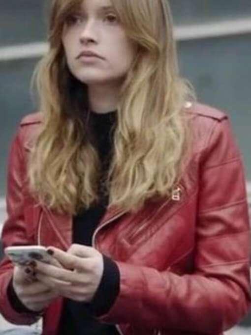 Manon Demissy Skam France Leather Jacket in S04E03