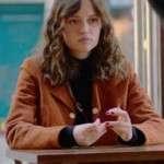 Marilyn Lima Tv Series Skam France Suede Leather Jacket