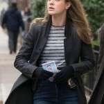 Michaela Stone worn Black Trench Coat in Tv Series Manifest