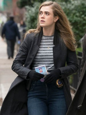 Melissa Roxburgha Tv Series Manifest Black Wool Coat