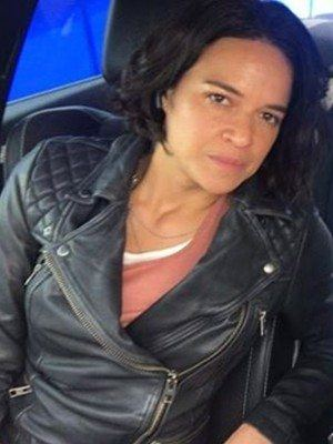 Michelle Rodriguez Fast and Furious 9 Black Leather Jacket