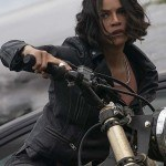 Michelle Rodriguez Fast9 Black Leather Biker Jacket