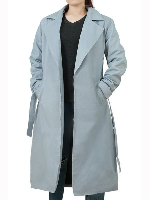 Womens Trench Ferguson Grey Coat