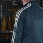 Movie GO Richard Roxburgh Black Cafe Racer Leather Jacket