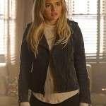 Natalie Alyn Lind TV series The Gifted Black Suede Leather Jacket