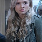 Natalie Alyn Lind The Gifted Suede Leather Jacket for Womens