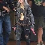 Nix Guns Akimbo Samara Weaving Black Leather Jacket