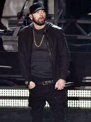 Oscars Academy Awards 2020 Eminem Suede Leather Jacket