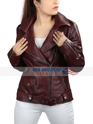 Brando Style Queen Sono Motorcycle Leather Jacket