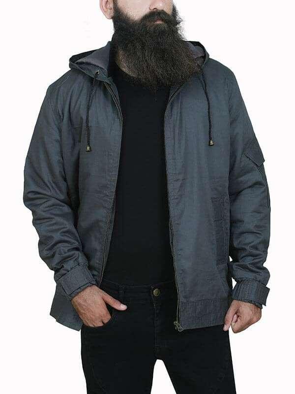 Peter Parker Spiderman Grey Cotton Jacket