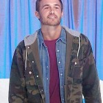 Peter The Bachelor Tv Series Military Green Hooded Jacket