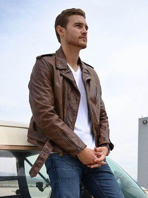 The Bachelor Peter Weber Brown Leather Jacket