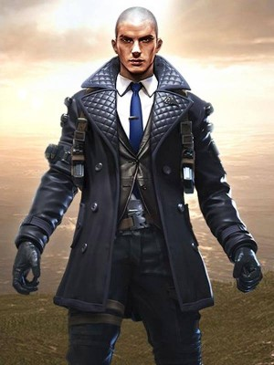 Garena Free Fire Battlegrounds Rafael Quilted Leather Coat