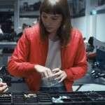 Red Bomber Jacket worn by Christie Hooper in Movie Go