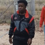 Red Stripes Bomber Jacket worn by Colin in Movie Go 2020