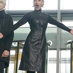 Reeva Payge TV Series The Gifted Sleeveless Black Coat