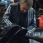 Richard Roxburgh Go Motorcycle White Stripes Leather Jacket