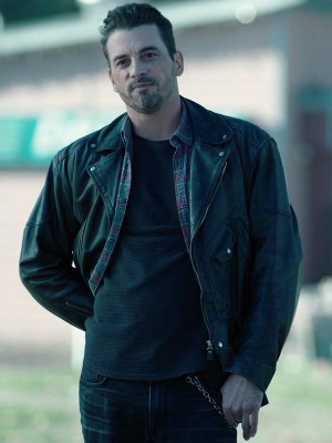 Brando Style Biker Jacket Worn by Skeet Ulrich in Tv Series Riverdale