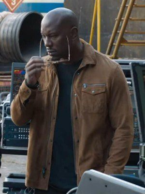 Roman Pearce Fast & Furious 9 Brown Cotton Jacket