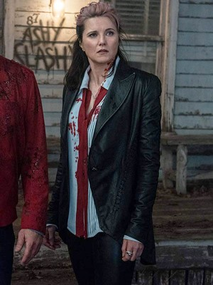 Lucy Lawless Tv Series Ash vs Evil Dead Frock Style Blazer Jacket