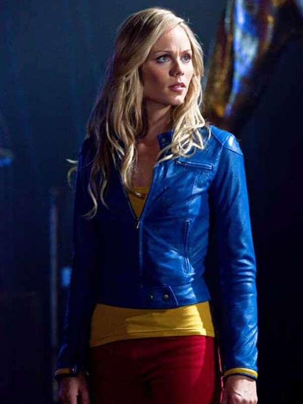 TV Series Supergirl Melissa Benoist Blue Leather Jacket