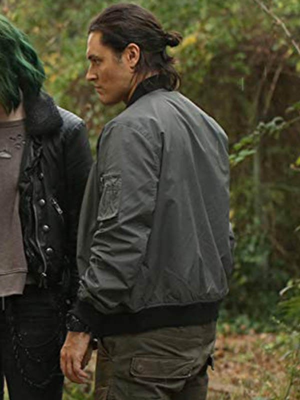 TV series The Gifted Blair Redford Gray Bomber Jacket