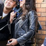 The Daily Show in New York City Letty Ortiz Leather Jacket