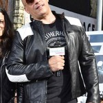 The Daily Show in New York City Vin Diesel Black Leather Jacket