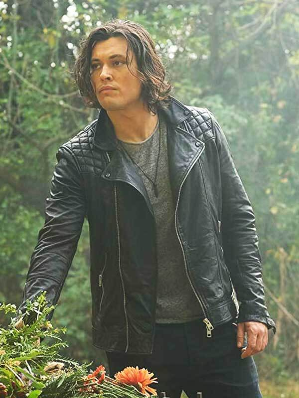 The Gifted Series John Proudstar Black Thunderbird Leather Jacket