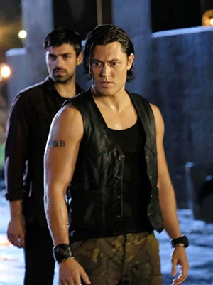 Tv Series The Gifted John Proudstar Black Leather Vest