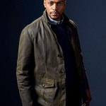 The InBetween Distressed Brown Jacket worn by Damien Asante