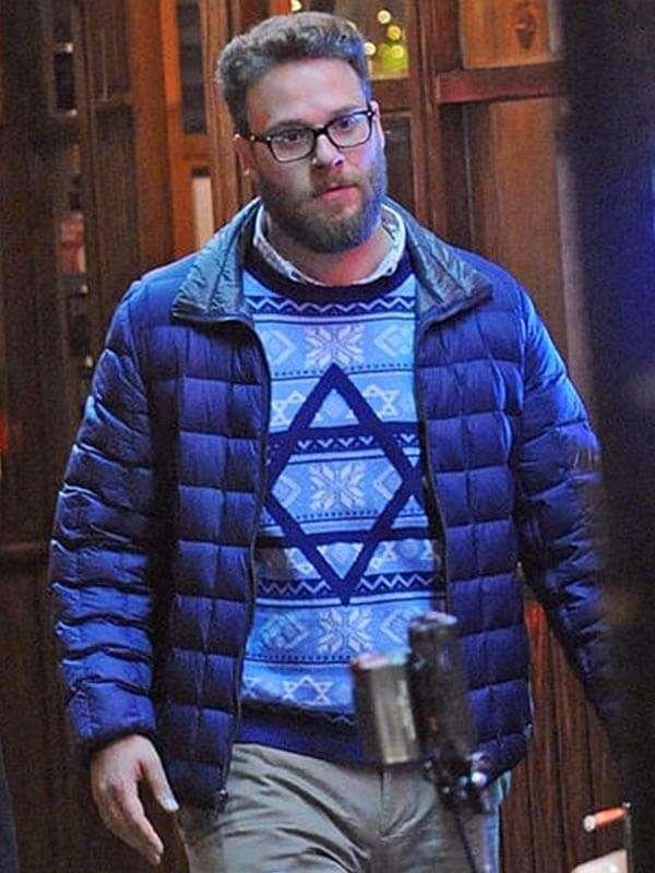 The Night Before Seth Rogen Blue Jacket
