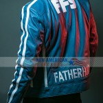 The Road To F9 Concert Vin Diesel Blue Leather Jacket