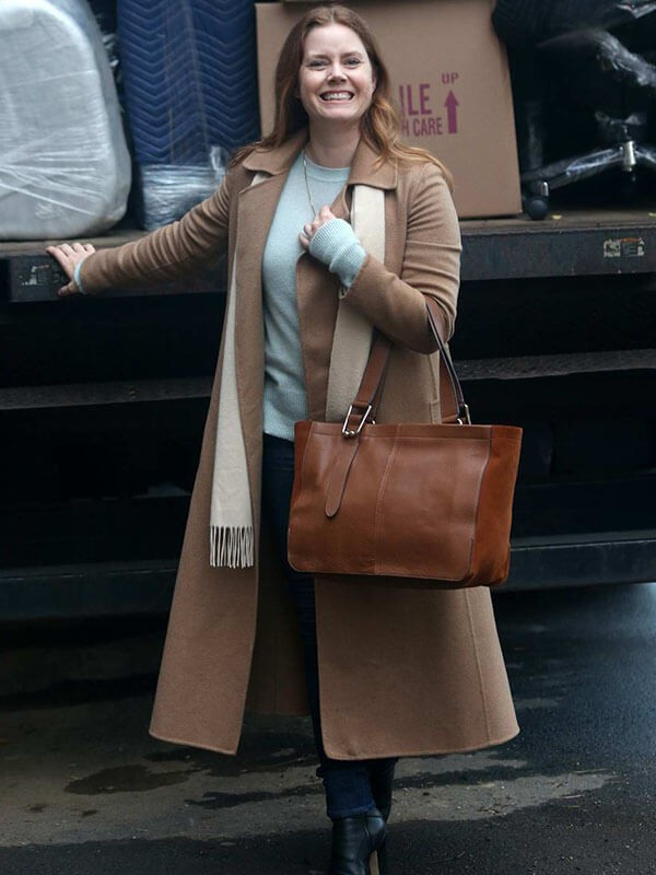 The Woman In The Window Amy Adams Wool Trench Brown Coat