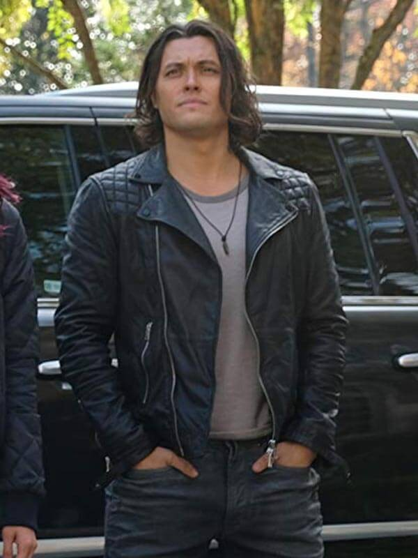 Thunderbird The Gifted Blair Redford Black Leather Jacket