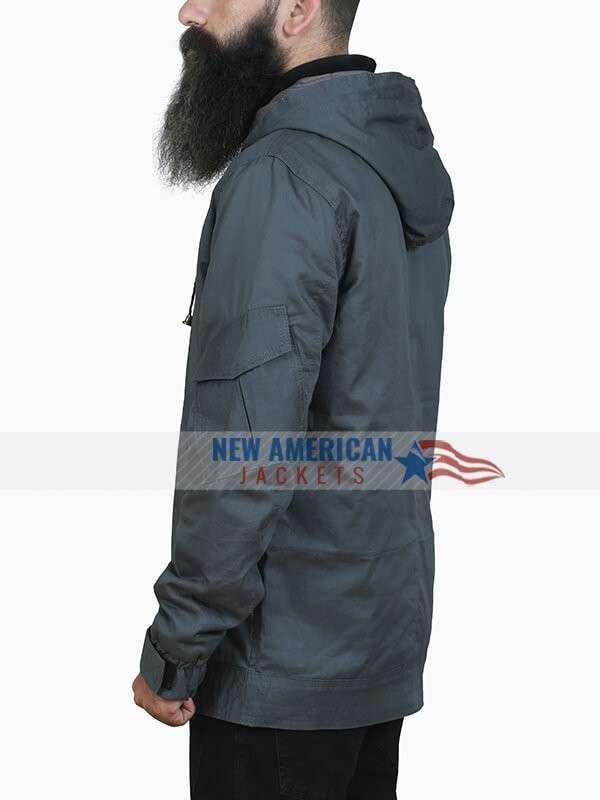 Tom Holland Spider-Man Homecoming Grey Cotton Jacket