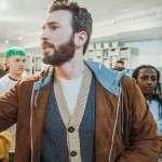 Toronto International Film Festival Chris Evans Brown Leather Jacket