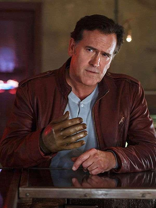 Tv Series Ash vs Evil Dead Ash J. Williams Brown Leather Jacket