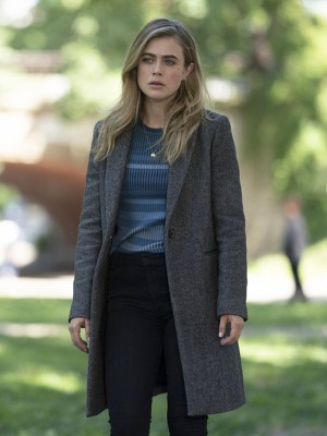 Michaela Stone Tv Series Manifest Wool Coat