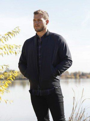 Tv Series The Bachelor Colton Underwood Black Bomber Jacket