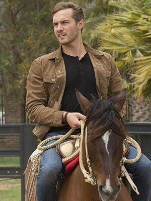 The Bachelor Peter Weber Brown Suede Leather Jacket
