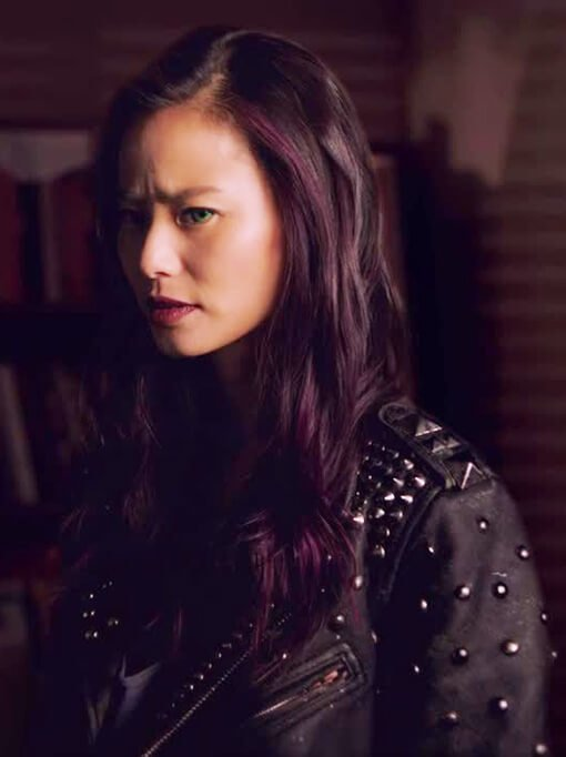 Tv Series The Gifted Blink Studded Black Leather Jacket