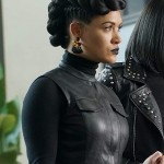 Tv Series The Gifted Reeva Payge Black Sleeveless Coat