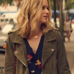 Tv Series You Guinevere Beck Green Suede Leather Jacket