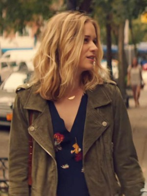 Elizabeth Lail You Suede Leather Jacket for Womens