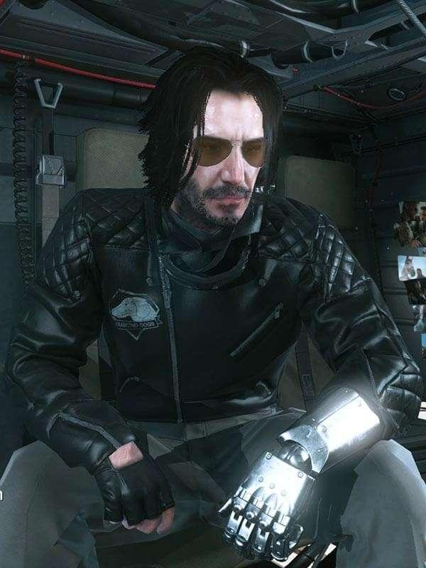 Video Game Cyberpunk 2077 Johnny Silverhand Motorcycle Jacket