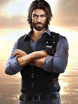 Free Fire Andrew Black Garena Leather Vest